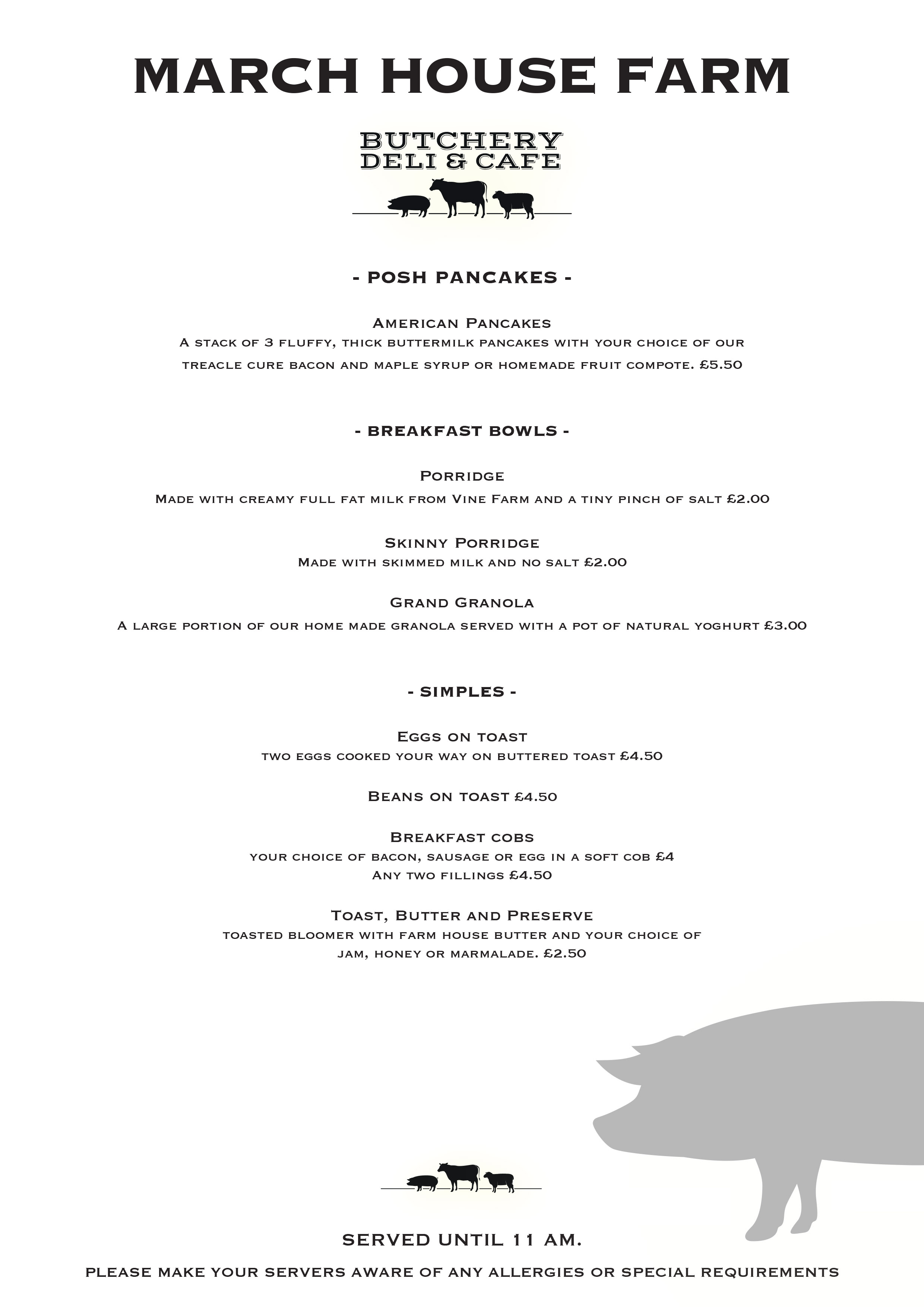 breakfast Menu A4 2
